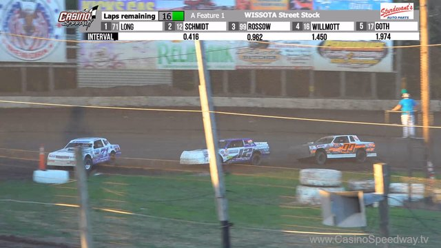 Casino Speedway 7/12/20 WISSOTA Street Stock Races
