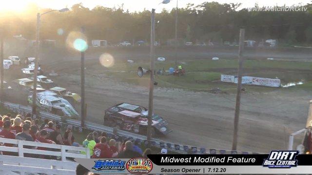 Bemidji Speedway 7/12/20 WISSOTA Midwest Modified Races