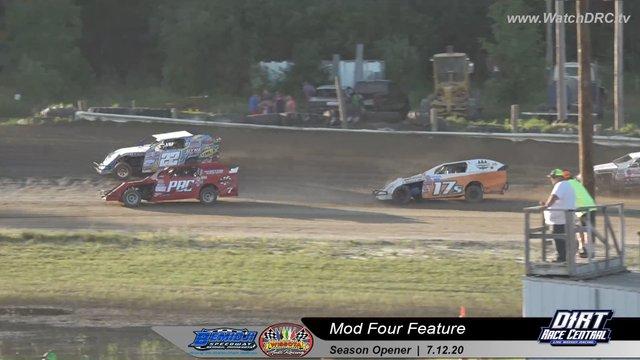 Bemidji Speedway 7/12/20 WISSOTA Mod Four Races