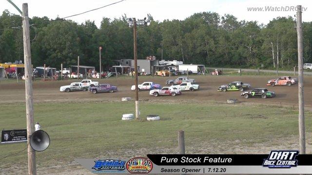 Bemidji Speedway 7/12/20 WISSOTA Pure Stock Races