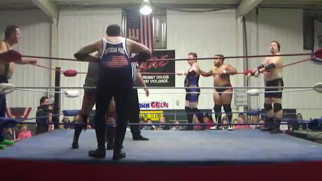2015 Homecoming: 6 man tag match: Big John Greene, Chris Wylde and Gaven Jaxon v. CEO, Louis G. Rich and Brown Sugar Jones