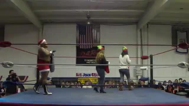 2014 Christmas Chaos: Opening segment with Brown Sugar Jones as Santa Claus