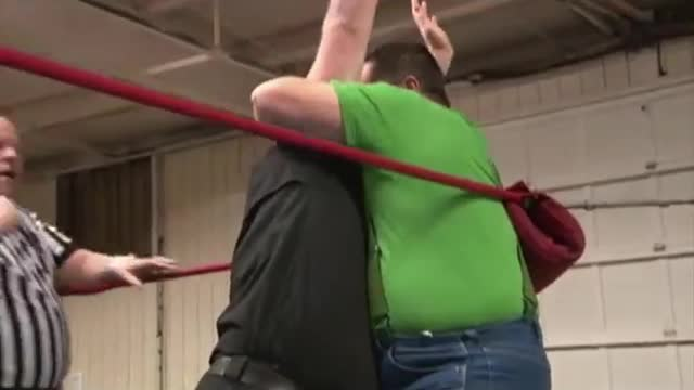 2013 Wrestling for a Cure: 2. TV Title Tournament: John Boy Justice v. Big John Greene