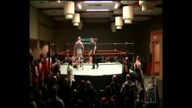 Kato vs. Steve Rivers Lumberjack Match, Krush at the Kingsway (March 2015)