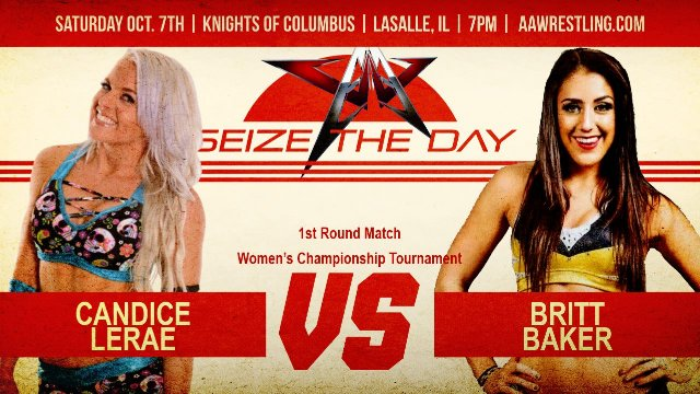 10.7.17 - Candice LeRae vs. Britt Baker - 1st Round - AAW Women's Championship Tournament