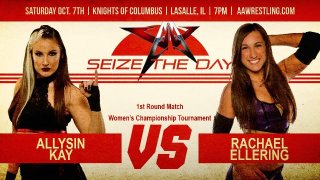 10.7.17 - Allysin Kay vs. Rachael Ellering - 1st Round - AAW Women's Championship Tournament