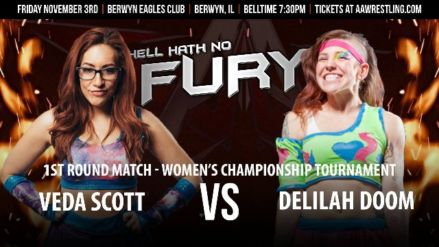 11.3.17 - Veda Scott vs. Delilah Doom - 1st Round - AAW Women's Championship Tournament