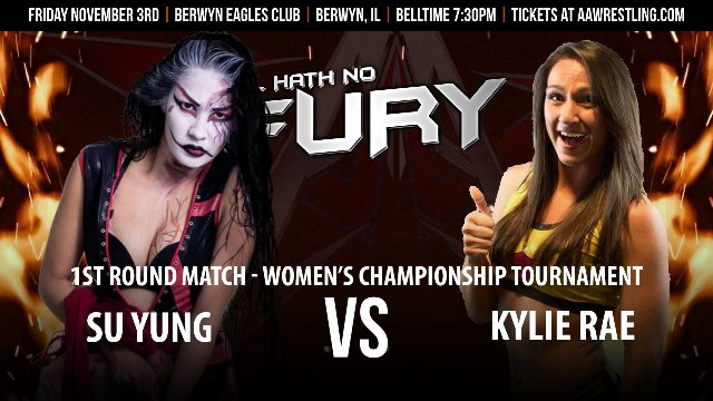 11.3.17 - Su Yung vs. Kylie Rae - 1st Round - AAW Women's Championship Tournament