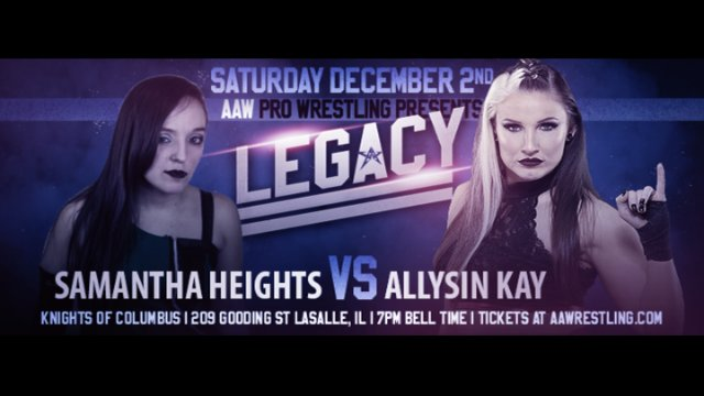 12.2.17 - Samantha Heights vs. Allysin Kay - AAW Pro