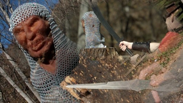 Unreleased - Chain Mail Zombie vs Swords and Throwing Knives!