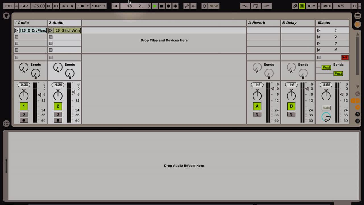 Ableton Live - Intro to Clips and Warping