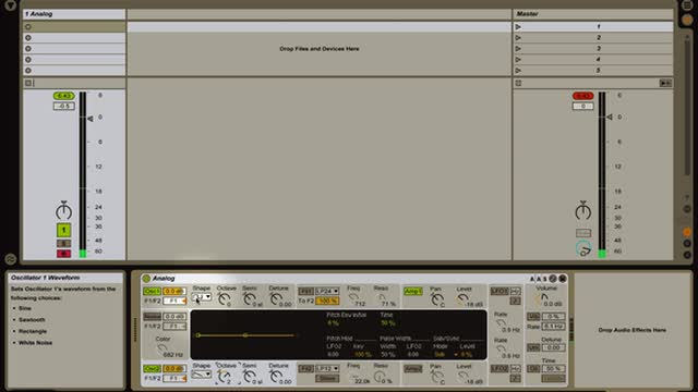Ableton Live -Intro to Instruments: Introduction to Synthesis w Analog