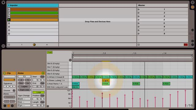 Ableton Live - Intro to MIDI: Building Basic Beats w Impulse