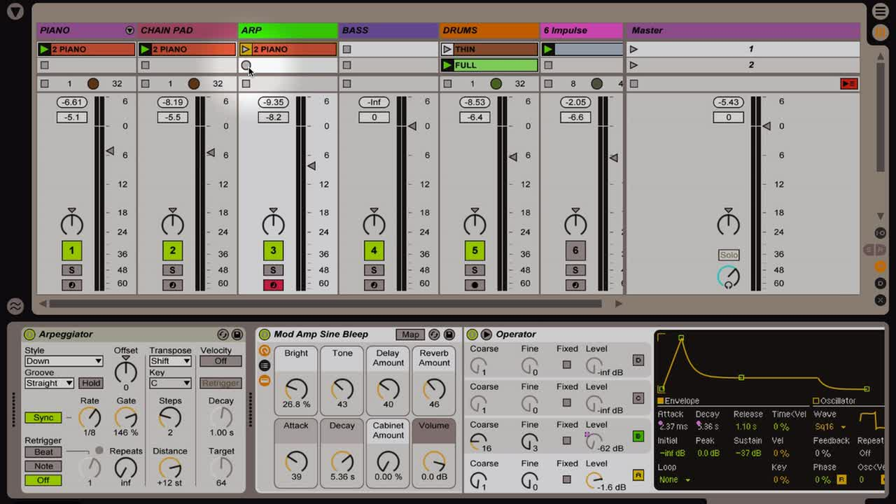 Ableton Live - Intro to MIDI: Recording MIDI and Building Arrangements w  Simpler