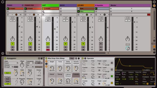 Ableton Live - Intro to MIDI: Recording MIDI and Building Arrangements w Simpler