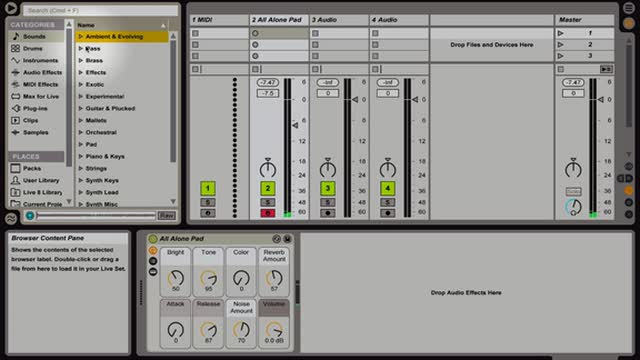 Ableton Live- Library Navigation Part 1