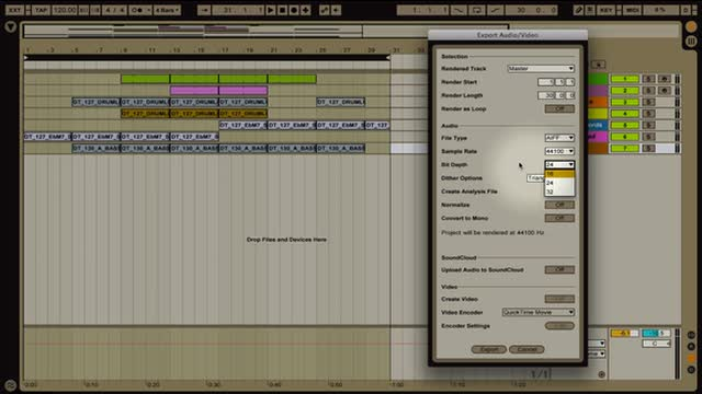 Ableton Live - Save and Export Functions