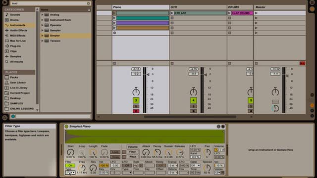 Ableton Live - Intro to Instruments: Simpler Part 1