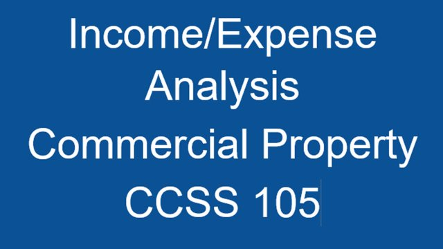 CCSS 105 Income/Expense Analysis