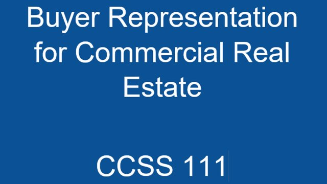 CCSS 111 Buyer Representation