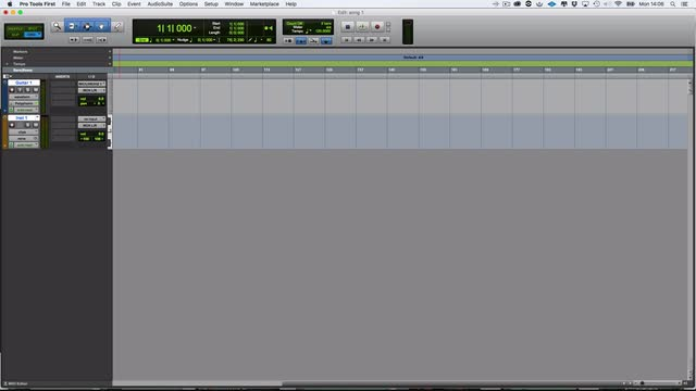 Creating Your First Song In Pro Tools First Part 2