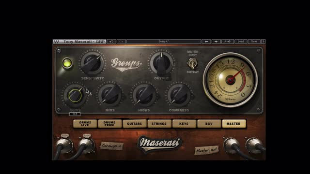 Using The Maserati GRP Plug-in  On a Master Buss