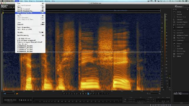Destructively Editing Audio Events With iZotope RX