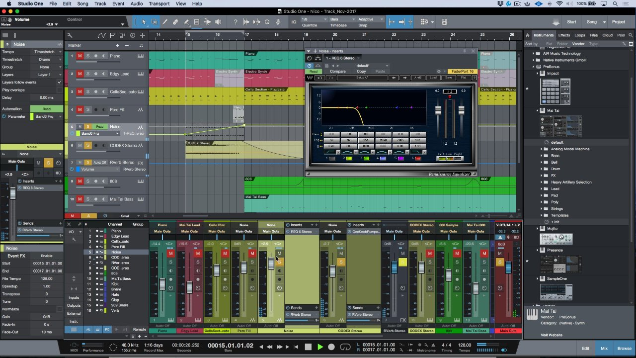 How To Create A Filtered White Noise Sweep Using Waves Renaissance