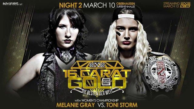 WXW Women's Championship: Toni Storm (c) VS Melanie Gray