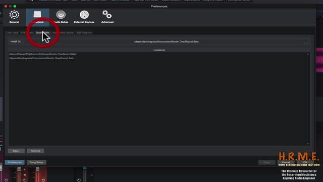 Presonus Studio One Version 3 Beginners Guide - Preferences Window