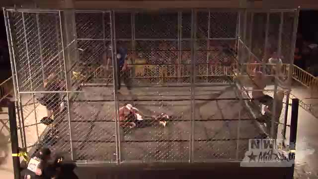 NWA Cajun Heat 1: #05 - Steel Cage Match for NWA National Title - Greg Anthony vs. Mustang Mike