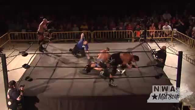 NWA Cajun Heat  1: #01 - Tim Storm & Apoc vs. Barrett Brown & John Saxon