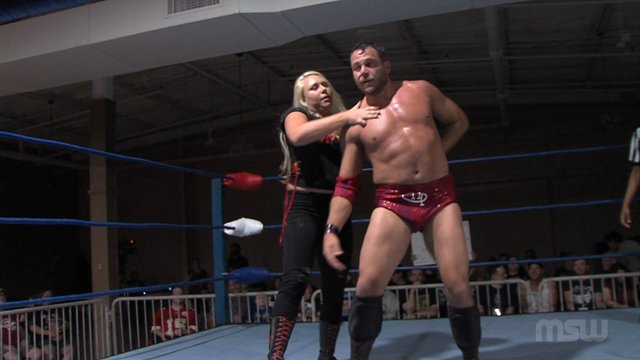 MSW Event 02: #03 - Mixed Tag: Bennett James & Miranda Gordy  vs. Niles Plonk & Belvedere