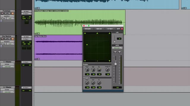 The Pro Tools Surround Panner Part 1