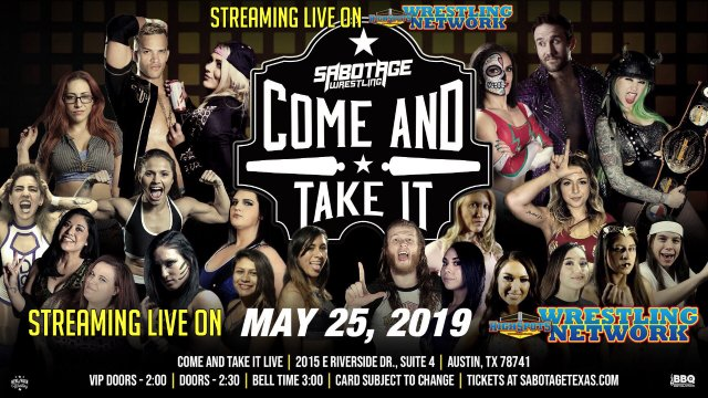 Sabotage Wrestling: Come and Take It IPPV Replay