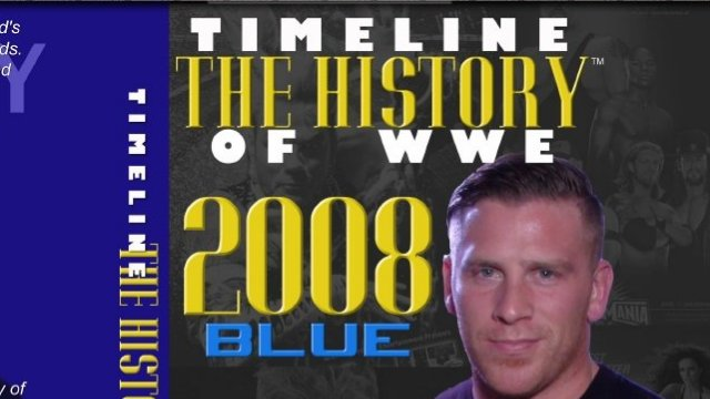 Timeline of WWE: 2008 Brian Myers