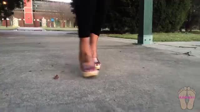 Walking In My New Heels