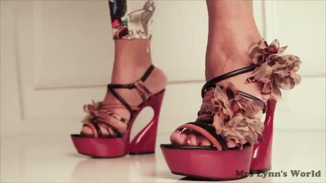 Fancy Red Heels Modeling