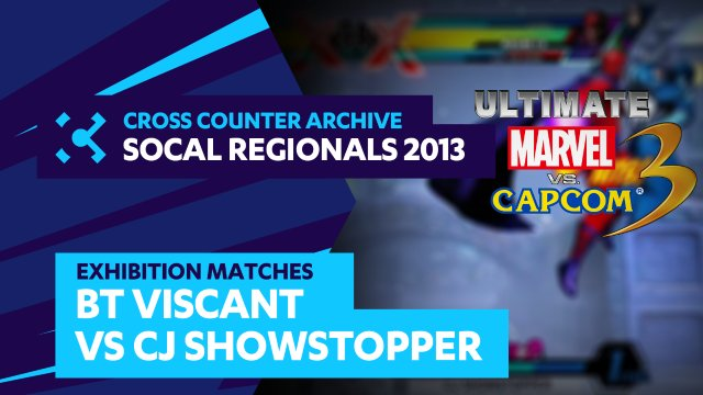 SoCal Regionals 2013 Exhibition Matches: UMVC3 -  BT Viscant vs. CJ Showstopper