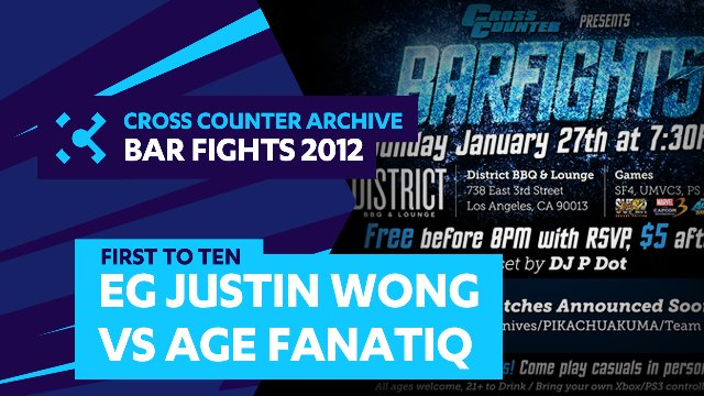 Bar Fights: EG Justin Wong vs AGE Fanatiq - First to 10 - UMVC3