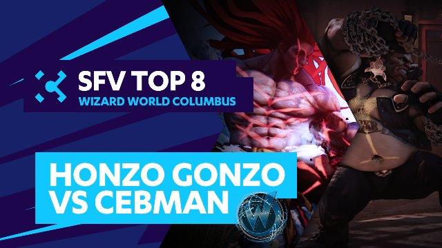 Honzo Gonzo (Necalli) vs. Cebman (Birdie) - Wizard World Columbus - 07/31/16 - Street Fighter V