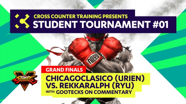 Chicagoclasico (Urien) vs.  RekkaRalph (Ryu) - Student Tournament #01 Grand Finals w/gootecks on Commentary