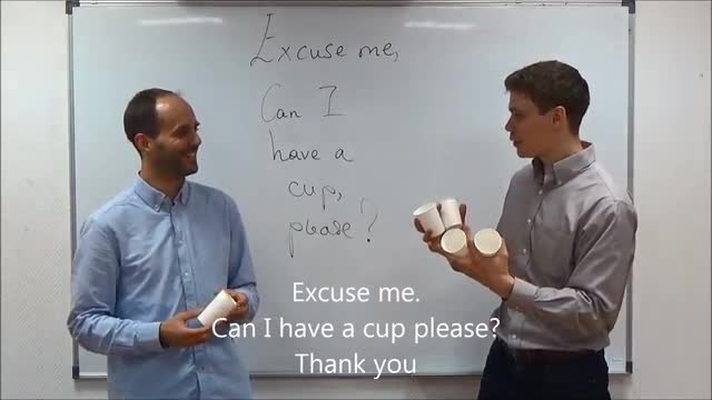 English Playground | 5 | Excuse me. Can I have a cup please?