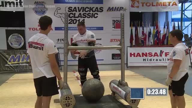 MHP Strongman Champions League stage 13- Lithuania 2014