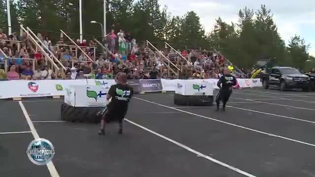 Mikko and Paavo sledge pull - SCL Finland- WEEK 35