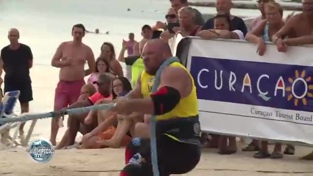 Lucain and Dainis tug of war - SCL CURACAO - WEEK 41