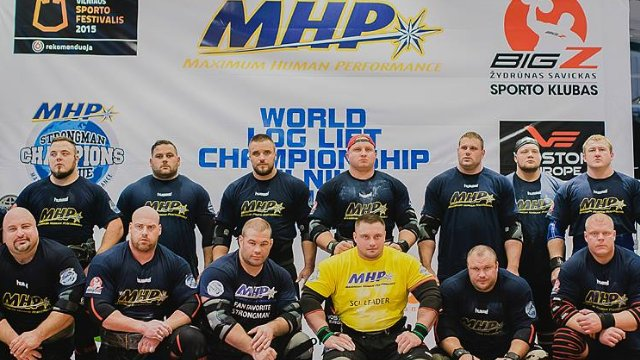 MHP Strongman Champions League stage 11 - Lithuania  2015 Log Lift Worlds