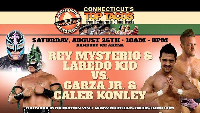 Rey Mysterio & Laredo Kid vs. Garza Jr. & Caleb Konley