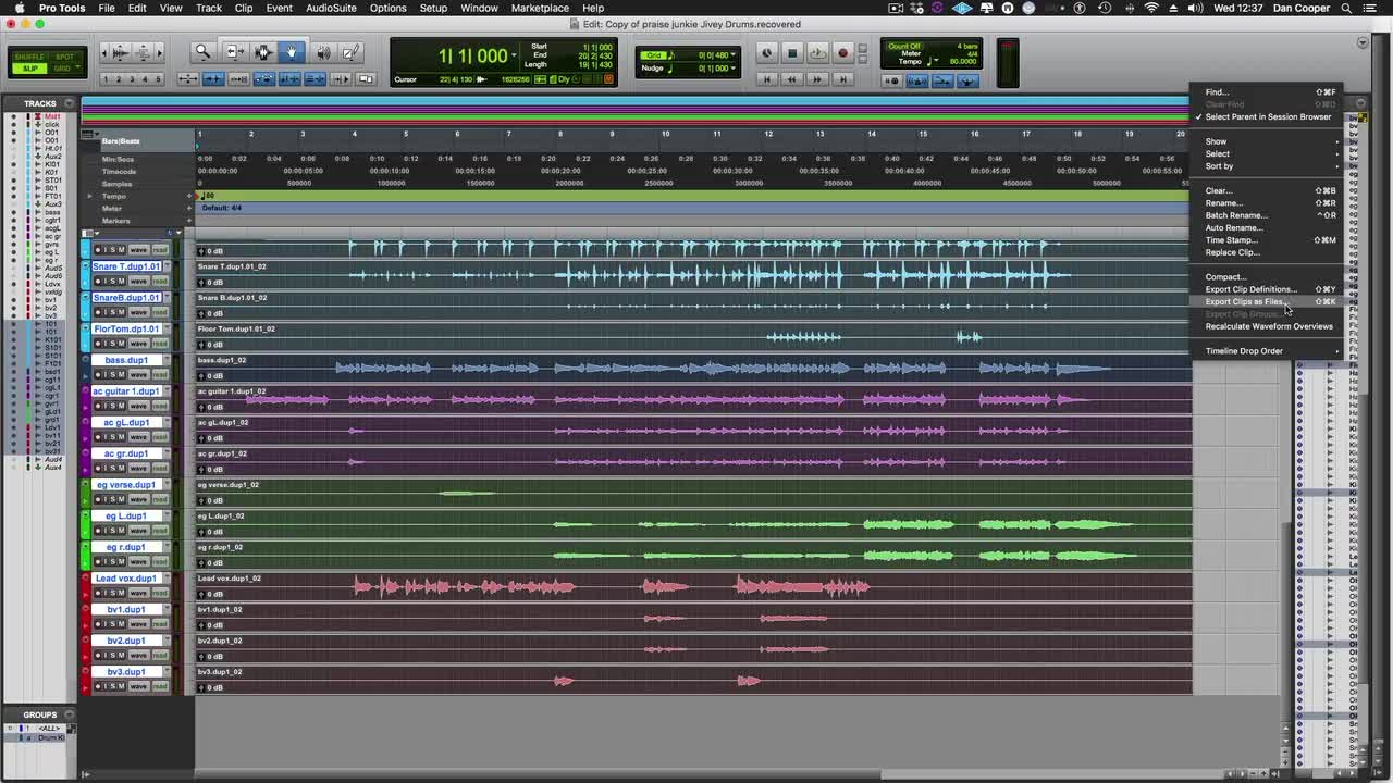 Tutorial - How To Print Tracks & Export Stems As Audio Files In Pro
