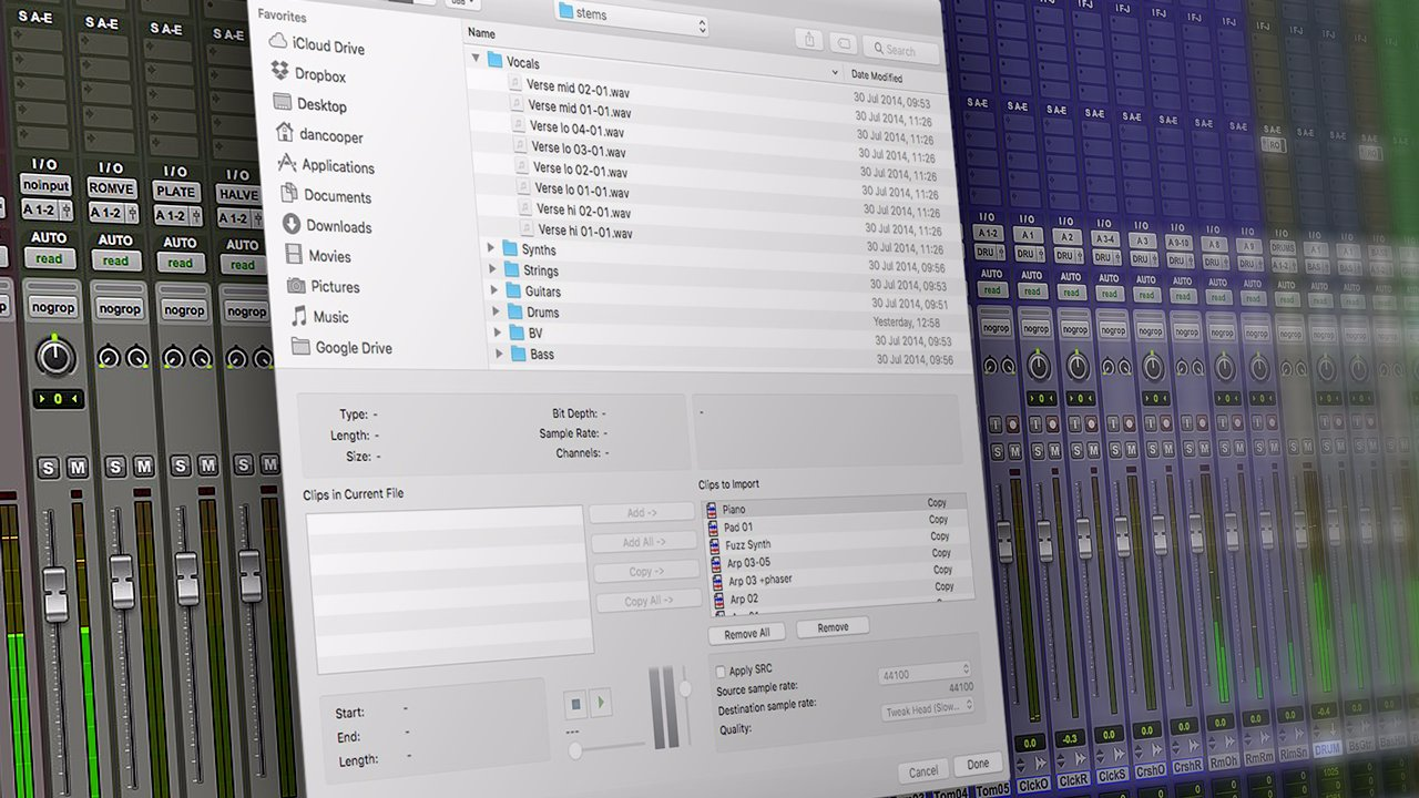 Video Tutorial - Mix Prep Workflow When Importing Audio Stems Into
